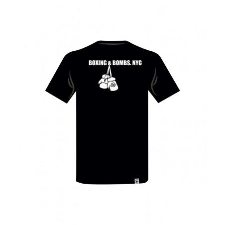 camiseta con un boxeador en el pecho de color rojo el bronx